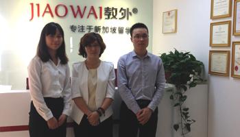 新加坡TMC学院中国区市场总监高琴密斯调查教外留学