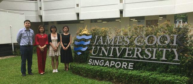 教外留学应邀访问詹姆斯库克大学新加坡校区
