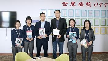 欢迎新加坡伦敦商业金融学院代表Harry Sun来访教外留学