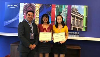 新加坡kaplan首次认证4名官方金牌顾问以及1名金牌文案 环外留学全揽该奖
