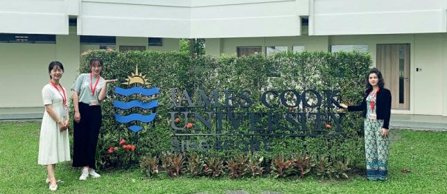 环外留学应邀访问澳洲詹姆斯库克大学新加坡校区
